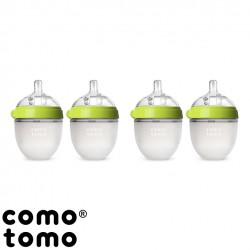 Kit com 4 Mamadeiras Comotomo® Green 150ml