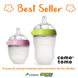 Kit 2 Mamadeiras Comotomo® Pink de 150ml + Green de 250ml