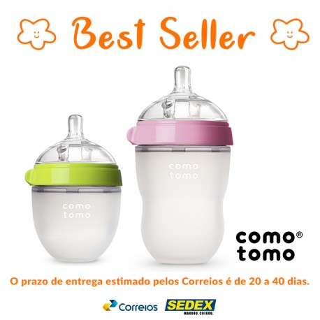 Kit 2 Mamadeiras Comotomo® Green de 150ml + Pink de 250ml