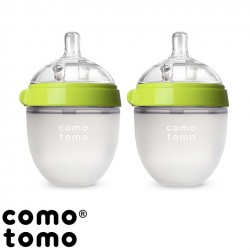 Kit com 2 Mamadeiras Comotomo® Green 150ml